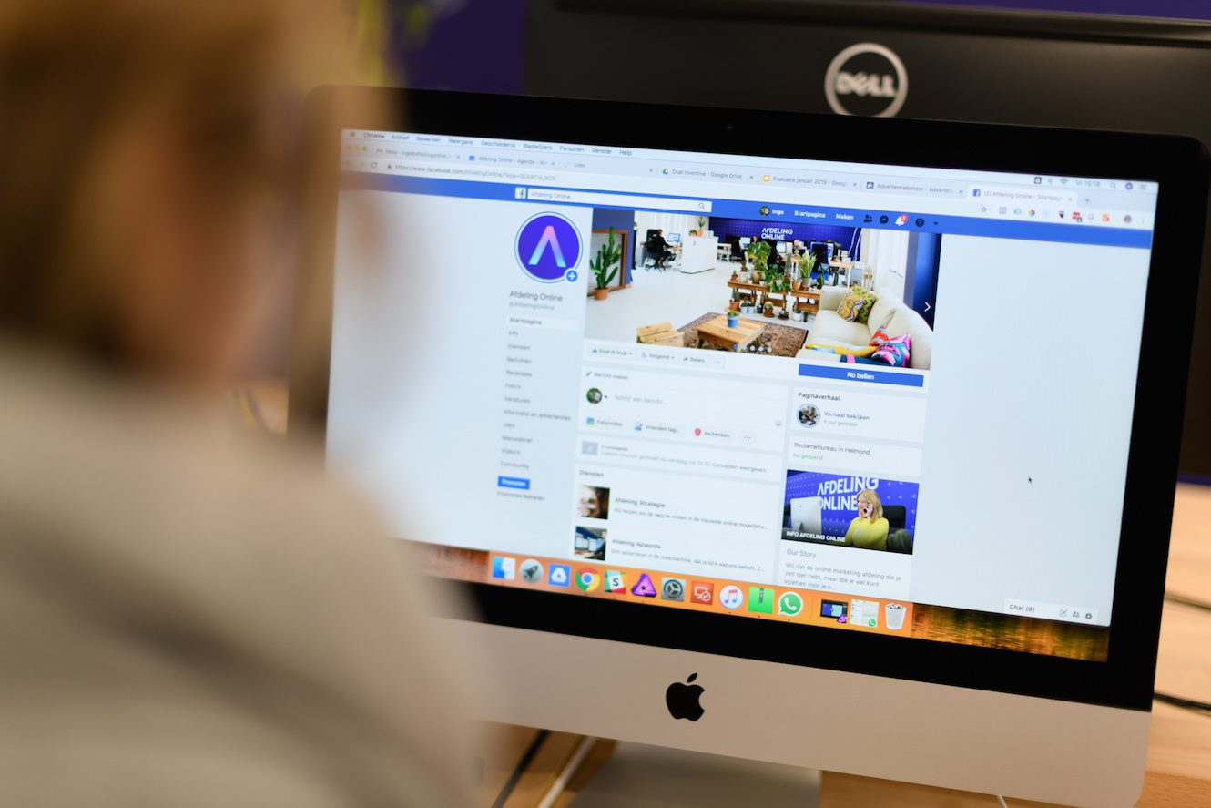 digital marketing bureau facebook pagina afdeling online